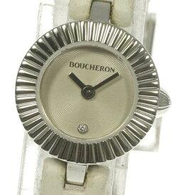 【Boucheron】ブシュロン マジョリー 1Pダイヤ WA012509 クォーツ レディース【中古】