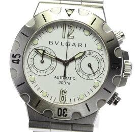 【BVLGARI】ブルガリ ディアゴノ スクーバ クロノグラフ SCB38S 自動巻き メンズ【中古】