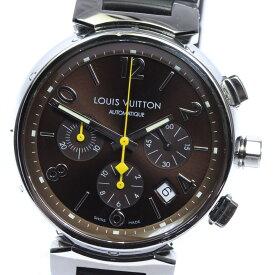 【LOUIS VUITTON】ルイ・ヴィトン タンブール クロノグラフ Q1121 自動巻き メンズ【中古】