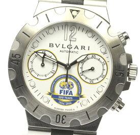 ☆訳あり【BVLGARI】ブルガリ ディアゴノ スクーバ FIFA100周年記念モデル 世界999本限定 SCB38S 自動巻き メンズ【中古】