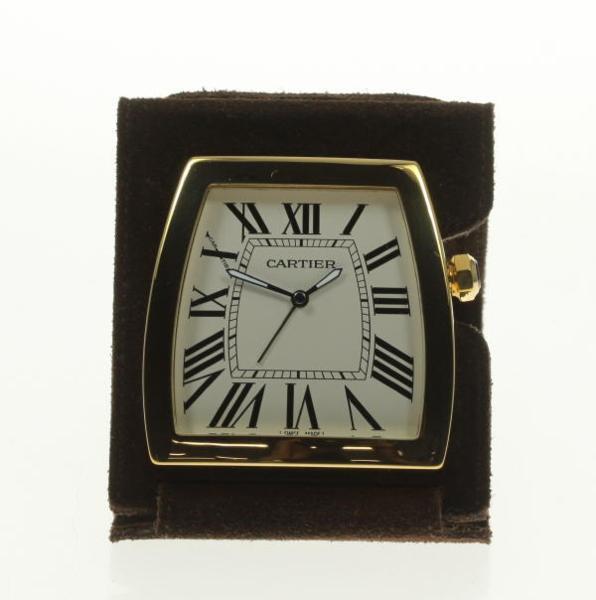 美品 箱保付【Cartier】カルティエ ラドーニャ Ref.W0100064 クォーツ 置時計【18052】【中古】