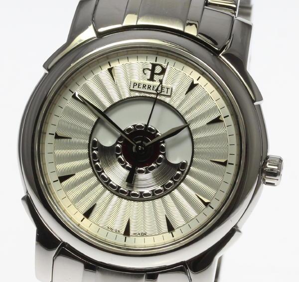 【PERRELET】ペルレ ダブルローター 裏スケ 自動巻き メンズ腕時計◆ 【中古】