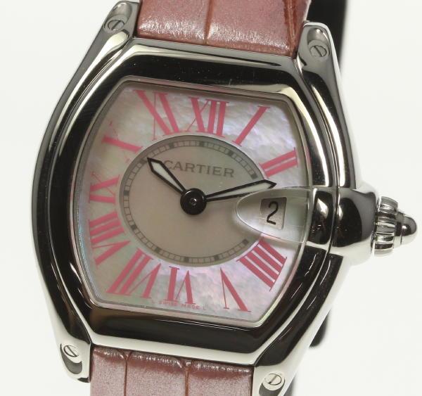 良品!箱・保付【Cartier】カルティエ ロードスターSM シェル W6206006 クォーツ レディース腕時計◆【中古】【170810】