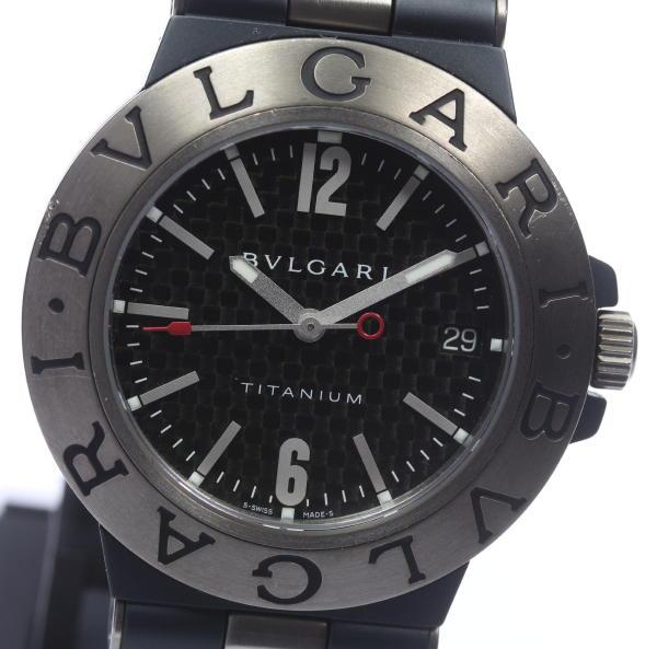 【BVLGARI】ブルガリ ディアゴノ チタニウム TI38TA 自動巻き ラバー メンズ腕時計 ◆【中古】【170810】