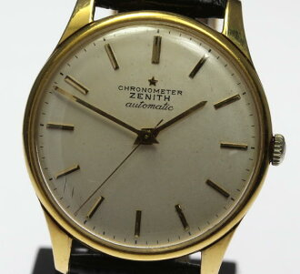 ※The Zenith K18YG antique half rotor cal .133.8 leather belt self-winding watch men whom there is reason in