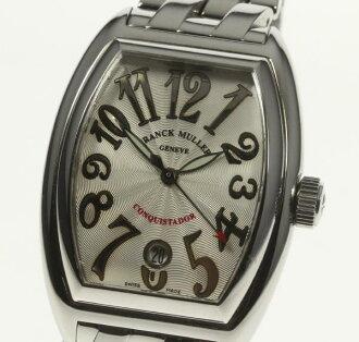 箱保 ☆ FRANCK MULLER Frank Muller 8002SC コンキスタドールシルバー clockface self-winding watch men☆