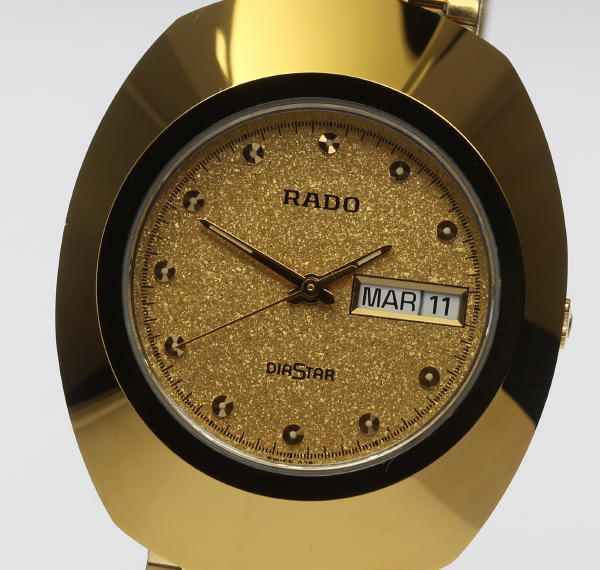 RADO ラドー ダイヤスター 114.0393.3 クォーツ デイデイト メンズ☆ 【中古】【190827】