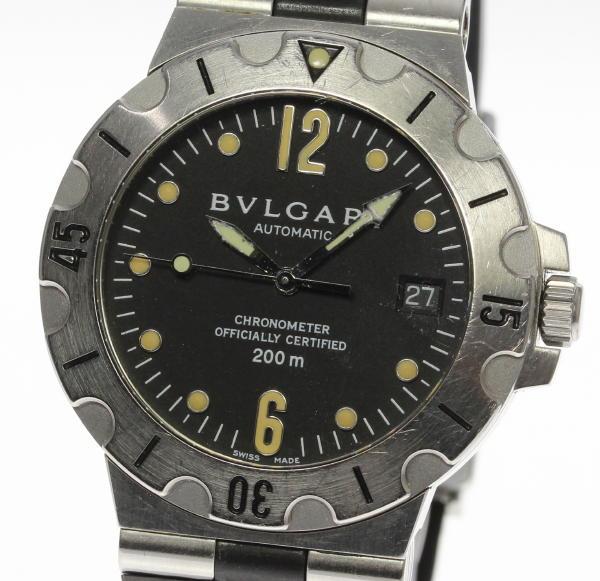 【BVLGARI】ブルガリ ディアゴノスクーバ SD38S 自動巻き ラバー メンズ【中古】【170920】