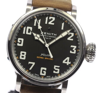 ★Pole beauty product ★ ゼニスパイロットアエロネフタイプ 20 extra special 03.2430.3000/21.C738 self-winding watch men