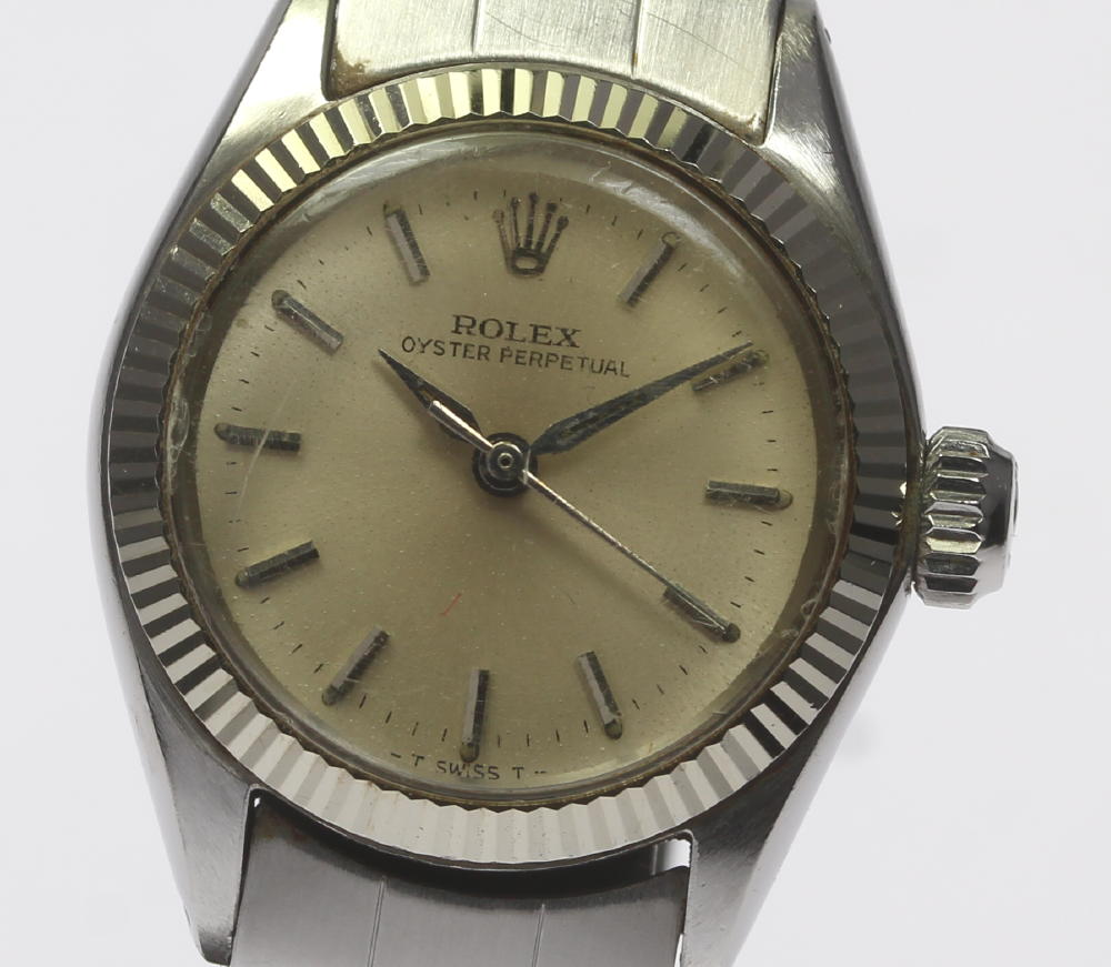 【ROLEX】ロレックス オイスターパーペチュアル 6619 自動巻き cal.1161 レディース【171005】