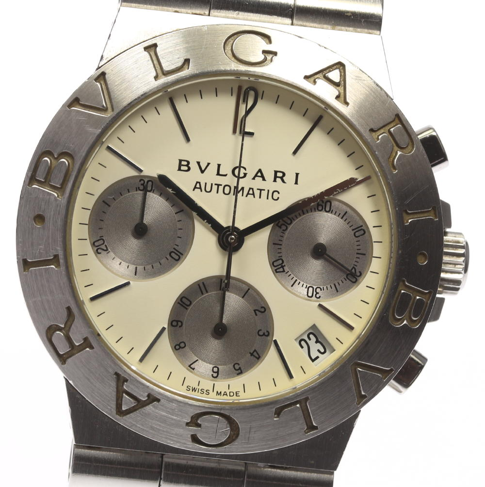 箱付【BVLGARI】ブルガリ ディアゴノスポーツ CH35S 白文字盤 自動巻き メンズ【中古】【171124】