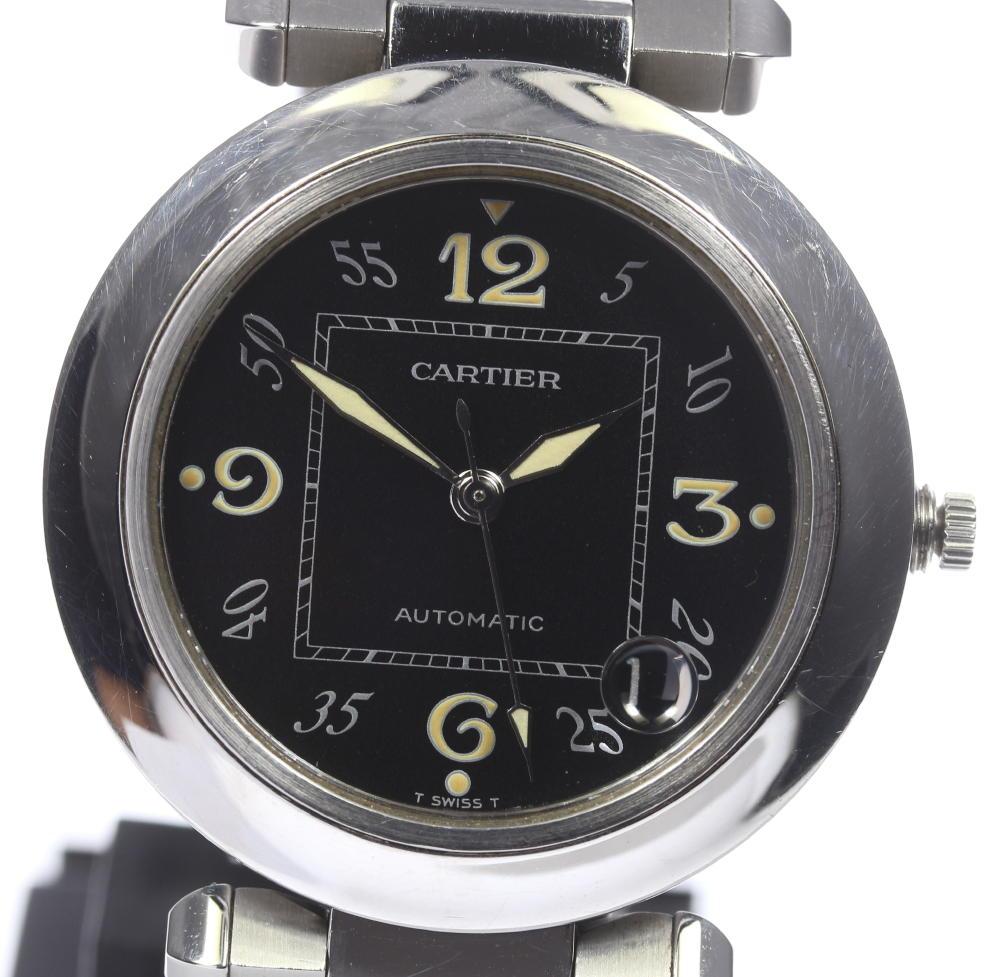 ※訳あり 【Cartier】カルティエ パシャC W31043M7 SSブレス 自動巻き ボーイズ【中古】【171124】