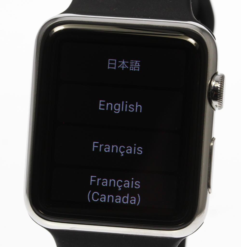 【Apple Watch】アップルウォッチ 42? ブラック ラバーベルト★箱付【中古】【171124】