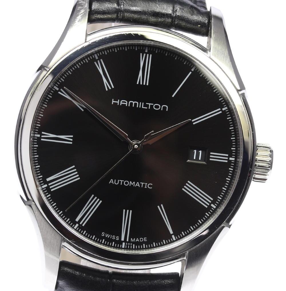 【HAMILTON】ハミルトン ジャズマスター バリアント H395150 革ベルト 自動巻き メンズ【中古】【171124】