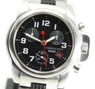Khaki 6313 chronograph black QZ men