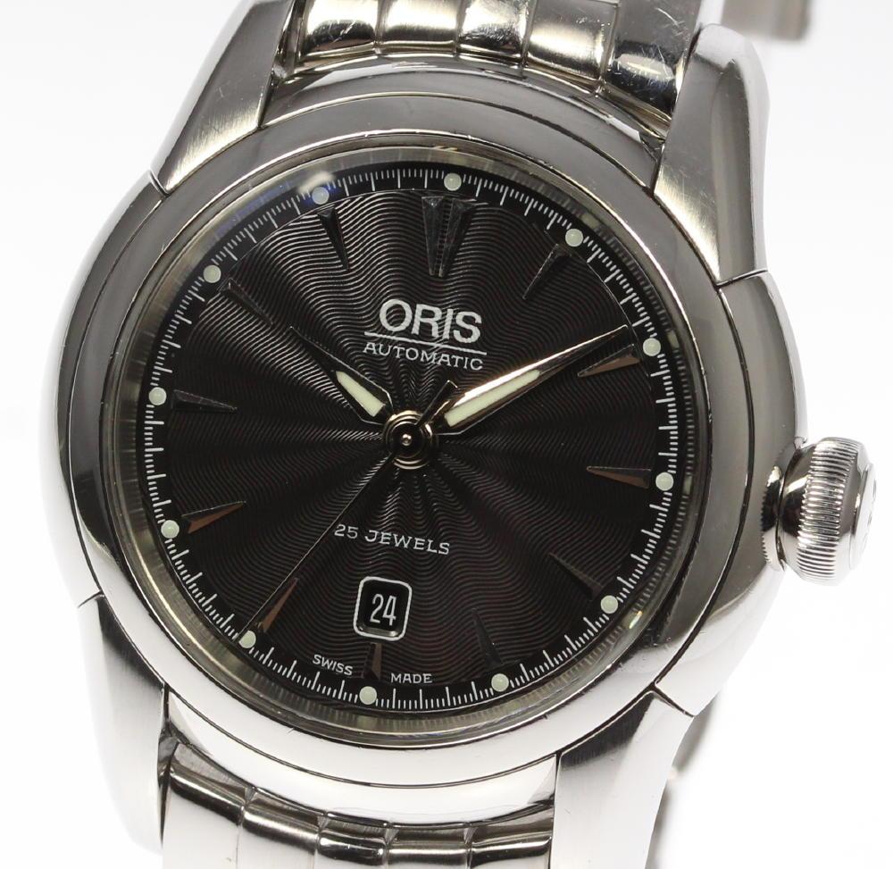 保証書付【ORIS】 オリス アートリエ 7548 純正ブレス 自動巻き レディース【180225】