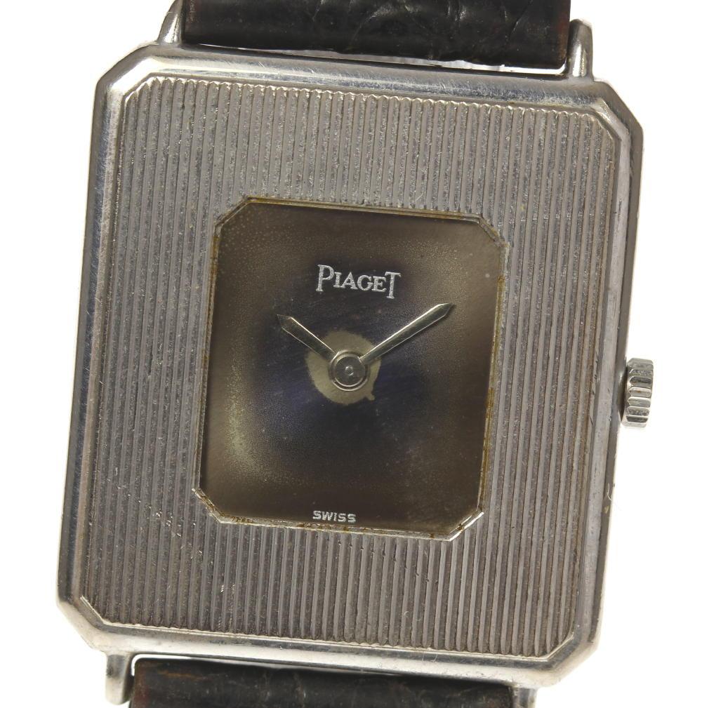 【PIAGET】ピアジェ アンティーク K18WG 手巻き 純正革ベルト メンズ【180225】