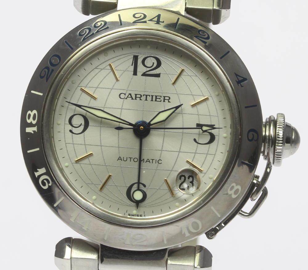 良品!【CARTIER】カルティエ パシャC メリディアン W31029M7 自動巻き ボーイズ【中古】【180316】