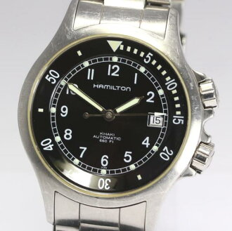 Hamilton khaki H775150 date black self-winding watch men☆