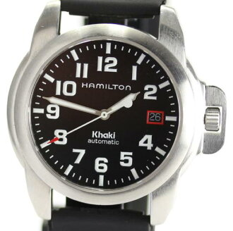 Hamilton khaki automatic H624150 outside a company building rubber AT◎