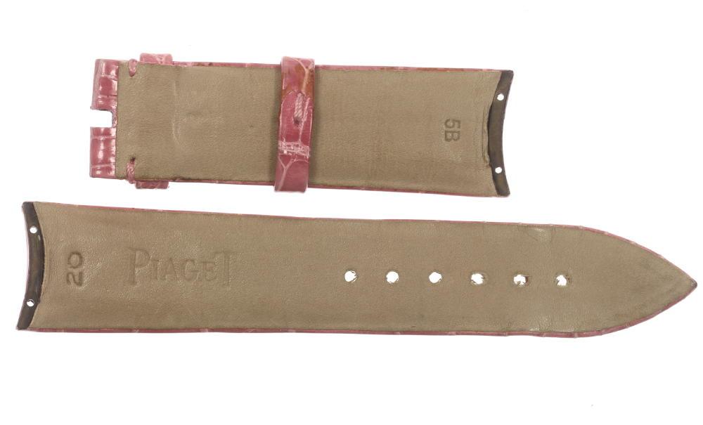良品!ピアジェ PIAGET ラグ幅20mm ピンク クロコ革ベルト レディース用☆【180329】【中古】