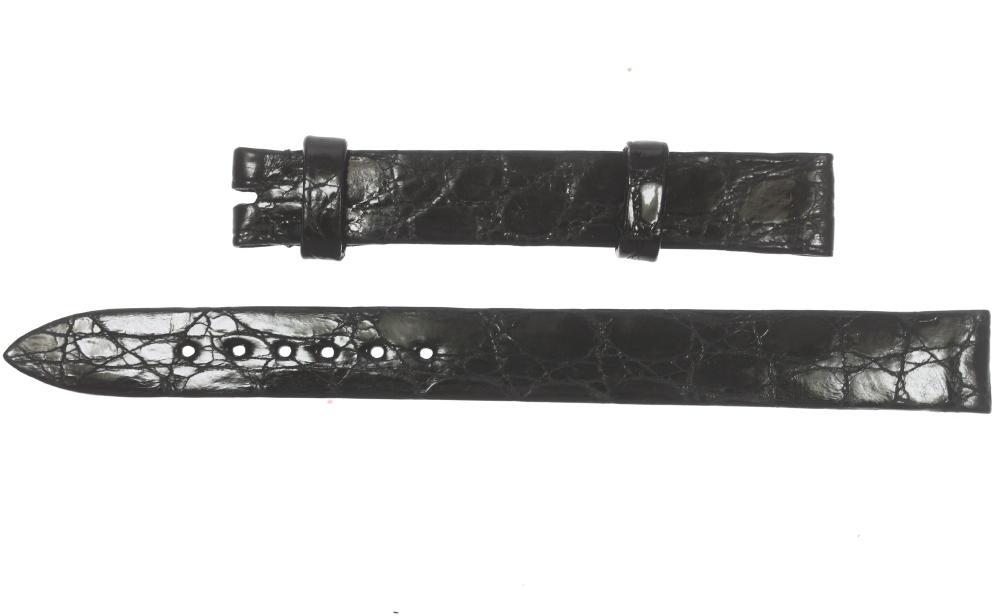 未使用品!パテック・フィリップ PATEK PHILIPPE ラグ幅11mm ブラック レディース用 クロコ革ベルト☆【中古】【180329】
