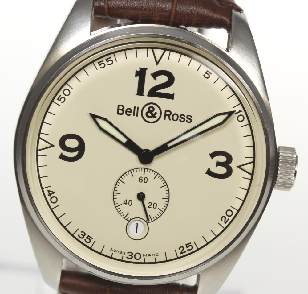 【Bell&Ross】ベル&ロス 123.A スモセコ 自動巻き 社外革ベルト メンズ【180413】【中古】
