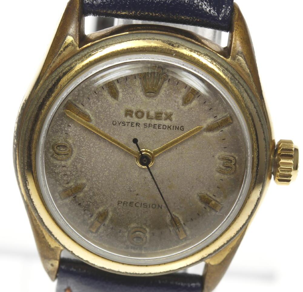 【ROLEX】ロレックス オイスター スピードキング 6418 手巻き cal.1210 社外革ベルト ボーイズ【180428】【中古】