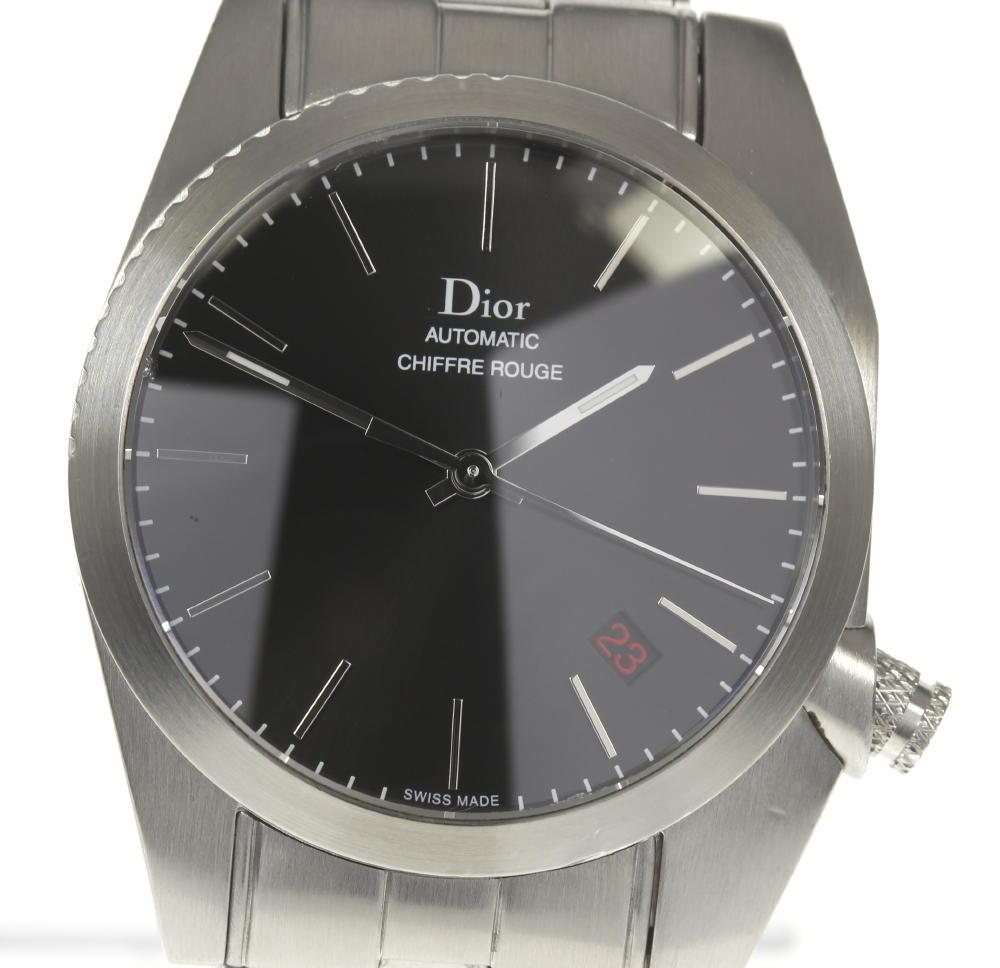 ※訳有品【Dior】ディオール シフルルージュ A03 黒文字盤 自動巻き メンズ【訳有】【中古】【event20】