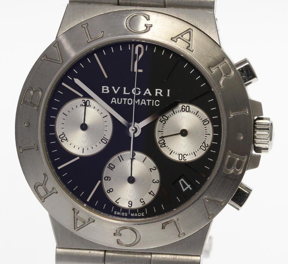 【BVLGARI】ブルガリ ディアゴノスポーツ CH35S クロノグラフ 自動巻き メンズ【180725】【中古】