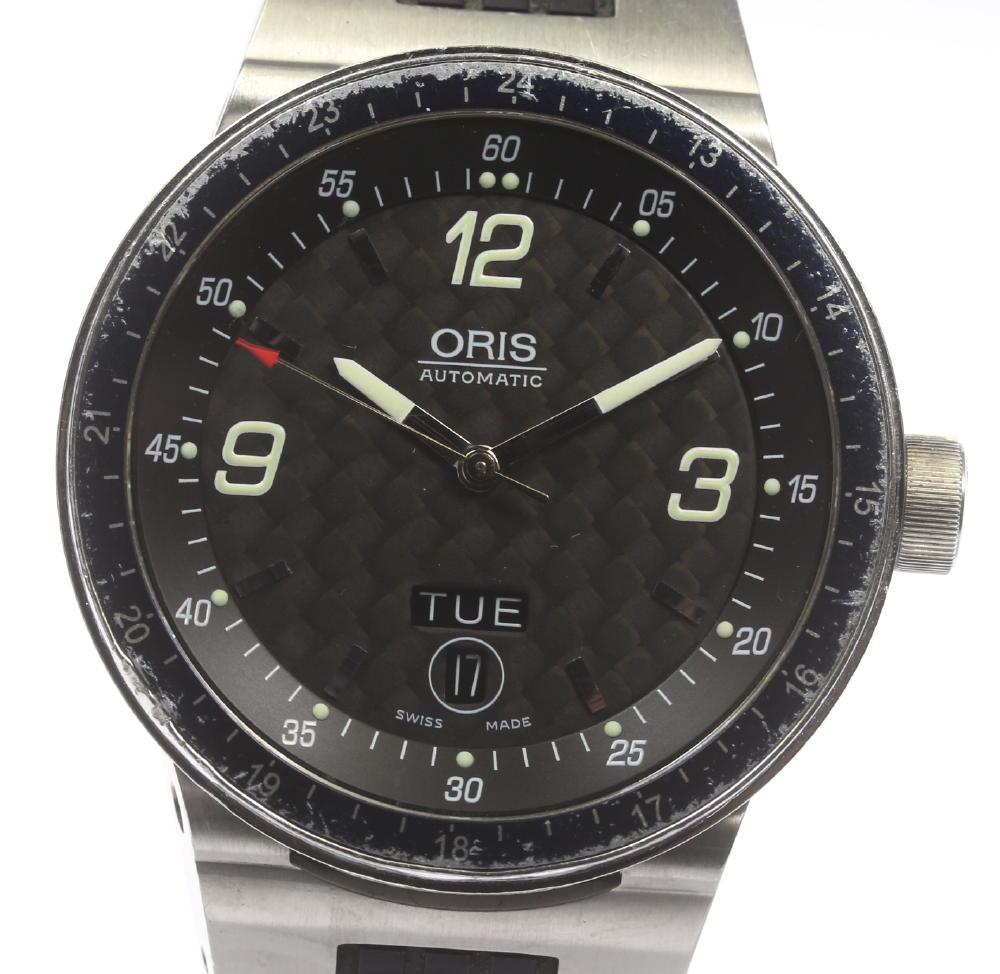【オリス】 ORIS ウィリアムズ F1 7595 デイデイト メンズ 自動巻き ラバーベルト☆ 【180824】