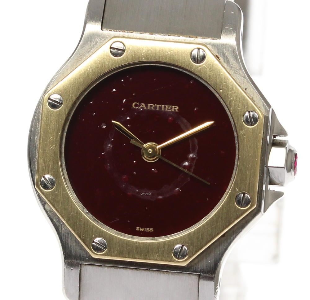 【CARTIER】カルティエ サントスオクタゴンSM 自動巻き レディース【180824】