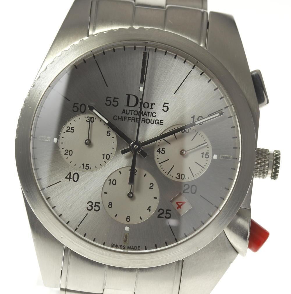 ★良品★【Dior】ディオール シフルルージュ CD084611 自動巻き クロノグラフ メンズ【180914】【18021】