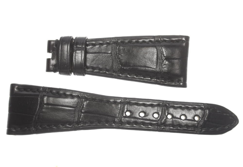 ★美品★【BVLGARI】ブルガリ ラグ幅23mm 黒 腕時計用 革ベルト【中古】【event10】