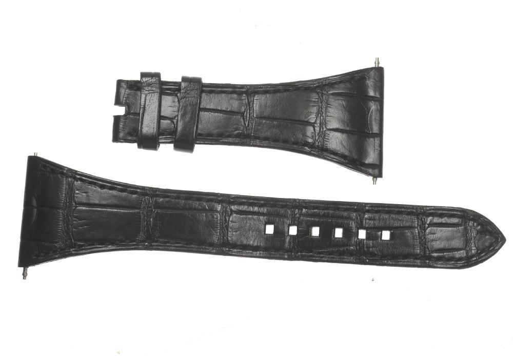 【HARRY WINSTON】ハリーウィンストン ラグ幅29mm 腕時計用 ブラック 革ベルト【中古】