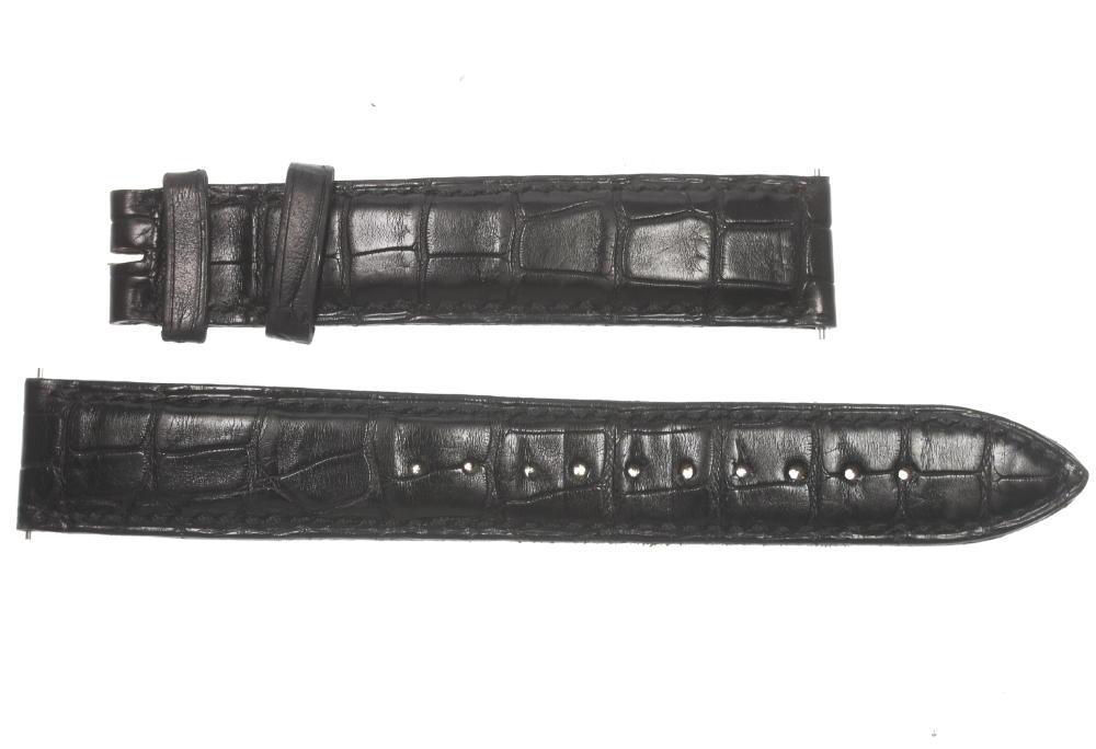 【FRANCK MULLER】フランクミュラー ラグ幅 17 mm 黒 腕時計用 革ベルト【中古】