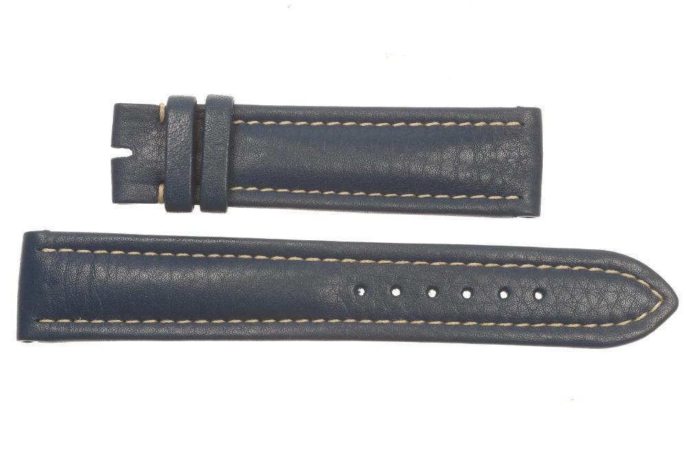 ★未使用品★【BREITLING】ブライトリング ラグ幅20mm ブルー 腕時計用 革ベルト【中古】