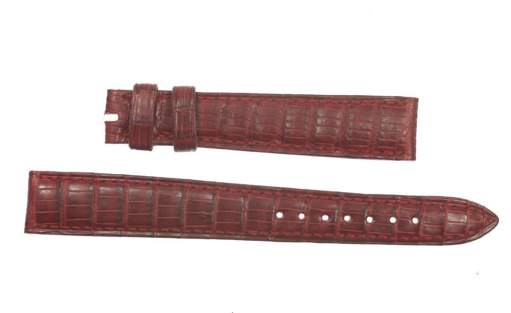 ★美品★【BLANPAIN】ブランパン ラグ幅15mm 赤 腕時計用 革ベルト【中古】