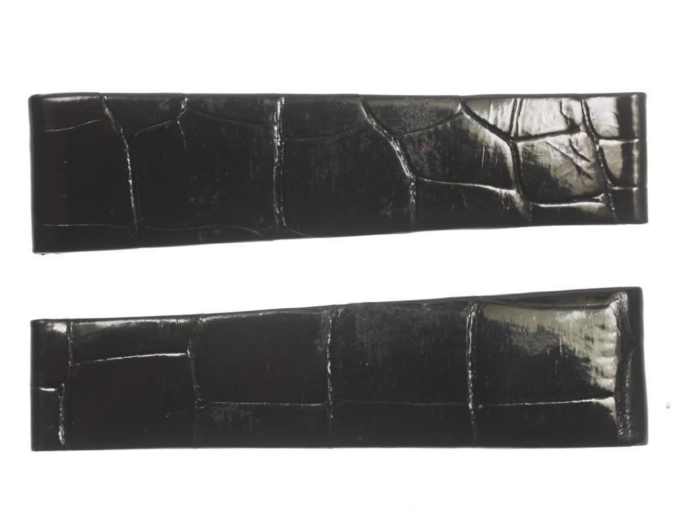 ★良品★【ROLEX】ロレックス ラグ幅19mm ブラック 腕時計用 革ベルト【中古】