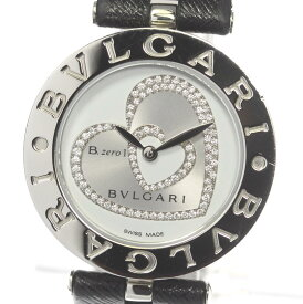 箱保付【BVLGARI】ブルガリ B-zero1 ビーゼロワン BZ30S ダブルハート ダイヤ クォーツ レディース【中古】