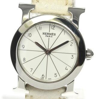 Hermes H watch rondo HR1 .210 QZ leather belt Lady's