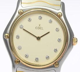 【EBEL】エベル クラシックウェーブ 181909 12P QZ メンズ【中古】【190809】