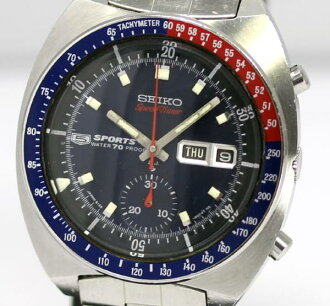 SEIKO 5 sports speed timer 6139-6000 self-winding watch Kurono