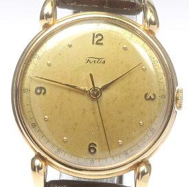 【FORTIS】フォルティス K18 手巻き 革ベルト アンティーク メンズ【中古】【190906】