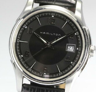 Hamilton jazz master H324110 QZ leather men