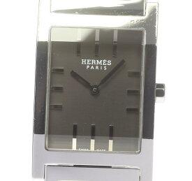【HERMES】エルメス タンデム TA1.710 グレー文字盤 クォーツ メンズ【ev15】【中古】