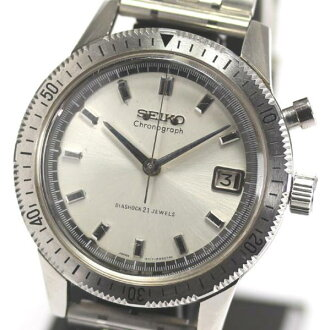 SEIKO one push chronograph 5717-8990 rolling by hand men ★