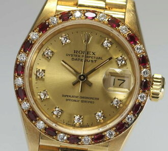 High-quality ★ Rolex 69198G date just pure gold K18YG original diamond K18YG self-winding watch Lady's