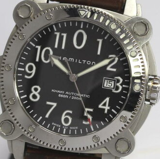 Hamilton khaki below zero H785550 date SS self-winding watch men