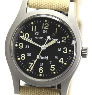 Hamilton khaki 9,415A rolling by hand leather Boys ★